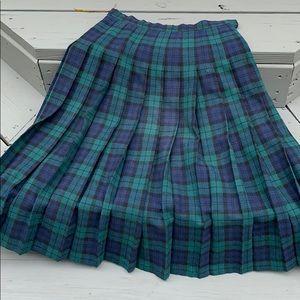 Vintage Pendleton black watch tartan skirt 6 wool